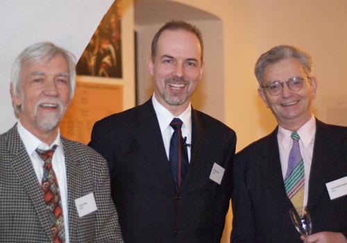 Mit Universitätspräsident Professor Krausch und Professor Wilke