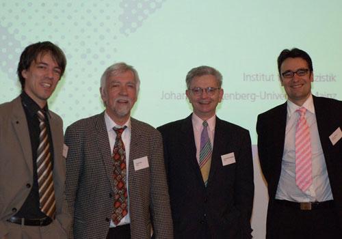 Mit den Professoren Reinemann, Wilke und Maurer