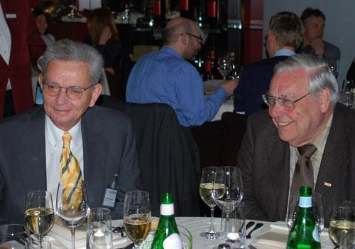 Mit Walter J. Schütz 2008, Lugano 2008