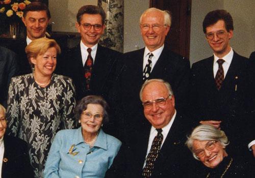 Frau Noelle-Neumann, Renate Köcher, Bernhard Rüthers und Helmut Kohl u.a