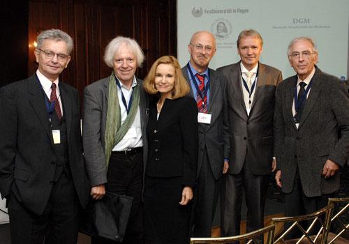 Mit Wolfgang Schmidbauer, Katharina Gräfin von Schlieffen, Robert Juette u. Harald A. Mieg beim Mediationssymposium 2008 in M.