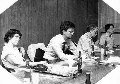 Mit Doris A. Graber, Elisabeth Noelle-Neumann und David Weaver, Mainz 1982