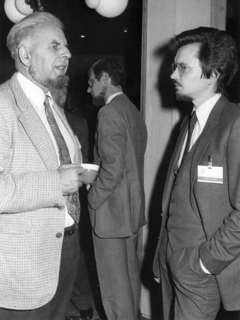 Mit Jay Blumler, München 1979
