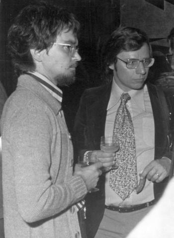 Mit Wolfgang R. Langenbucher, Augsburg 1973